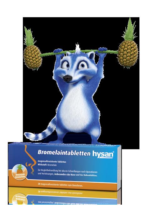 Bromelaintabletten hysan® - Lindern Druck und Schmerz